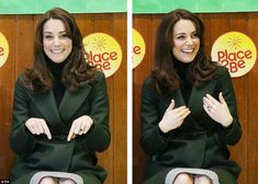 Proving she's a good sport, the Duchess of Cambridge took part in a song during the school's assembly