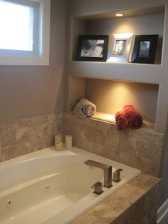 Want to do those built in shelves on the side wall when we get our new tub/backsplash