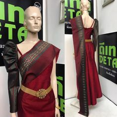Trendy Fashion, Fashion Outfits, Womens Fashion, Modern Filipiniana Gown, Silk Design, Thai Dress, Japanese Outfits, Traditional Dresses, Fashion Details