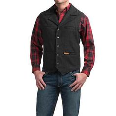 Powder River Outfitters Montana Vest (For Men) in Black - Closeouts