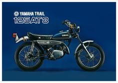 Yamaha Poster AT3 125 Trail 1973 Superb Suitable TO Frame   eBay