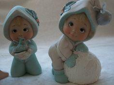 Ceramic Christmas tot with bird figurine Christmas decoration Ceramic Shop, Ceramic Pottery, Biscuit, Polymer Clay Christmas, Ceramic Bisque, Fondant Figures, Christmas Figurines, Reno, Fairy Dolls