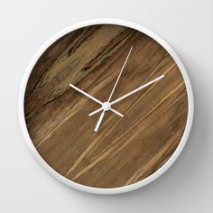 Etimoe Crema Wood Wall Clock