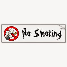 Free and Cheap: Free No Smoking Decals