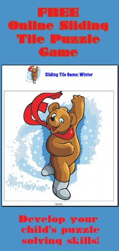 Skating Bear Sliding Tile Game for Kids at Squigly's Playhouse