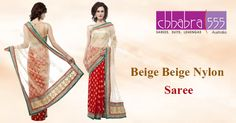 Today ‪Chhabra555‬ ‪Australia‬ brings for you Beige Beige Nylon Saree @ $64.95 AUD