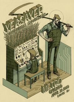 Yeasayer poster by Rich Kelly