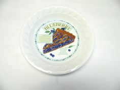 Pie Pan Plate Blueberry Recipe Blue White by sweetie2sweetie