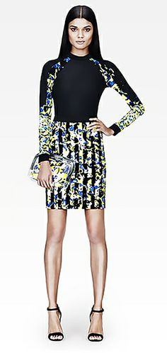 target.com Peter Pilotto pencil skirt in green floral stripe