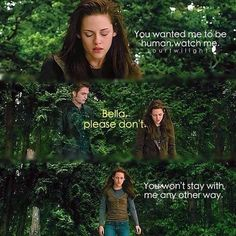 Bella I new moon jumping off a cliff and the water is cold.