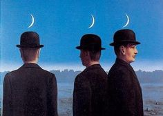 """""""Mysteries of the Horizon"""" - Rene Magritte.  We all live under the same sky, yet we have different horizons..."""