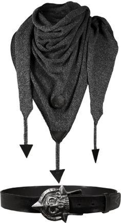 Black Scraf - Skull Belt - Black Flag Collection - Assassin Creed Easter Special