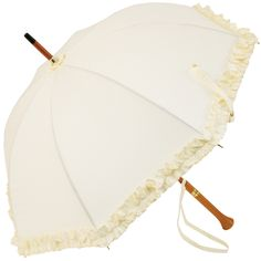 Isabelle - UVP Cream Ruffled Umbrella by Pierre Vaux - Brolliesgalore