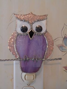 Stained Glass Owl Nightlight - Handcrafted in the USA by CandJMountainGlass on Etsy