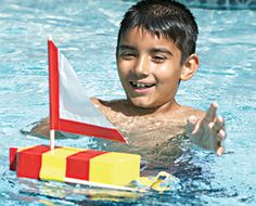 Get kids juiced about crafting with recyclables by turning an empty OJ carton into a working paddle wheel-powered sailboat.