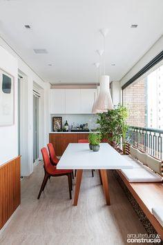 Closed Balcony Design With a beautiful color combination Home Room Design, House Design, Condo Balcony, Balcony Bar, Balkon Design, Lawn Furniture, Porche, Apartment Living, Small Spaces