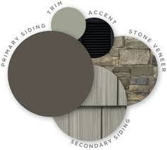 For the house dark grey siding with white trim & CEDAR SHAKES - Google Search                                                                                                                                                                                 More House Color Schemes, Exterior House Colors, Grey, Ideas, Exterior House Colours, Gray, Thoughts