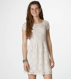 AE Floral Lace Dress, cute for my bridal shower! :)