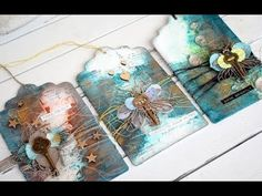 (14) Mixed Media Tags- Color Burst from Ken Oliver - YouTube