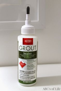 sealing grout in shower tile