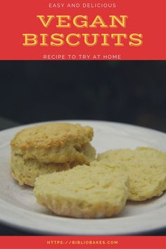 Easy and delicious vegan biscuits! Fast and cheap, ready in under 30 minutes! One of my favorite vegan breads!