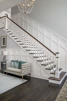 Home Design Stairs Staircases Ideas Staircase Remodel, Staircase Makeover, Paint Colors For Home, House Colors, Wall Colors, Entryway Paint Colors, Foyer Colors, Home Design, Design Ideas