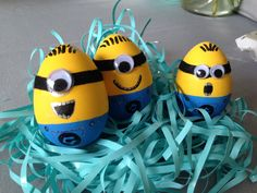3 done, 9 more to do!! Go,go,go!!  #minions #easter #eggs #despecable #me #decorations