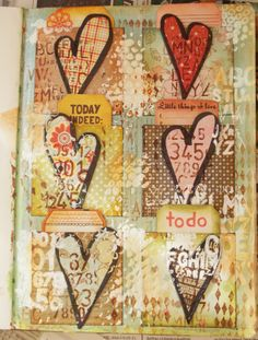 Art Journal Page: Love Notes