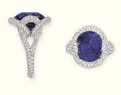 Sapphire and diamond ring, mounted by Mauboussin