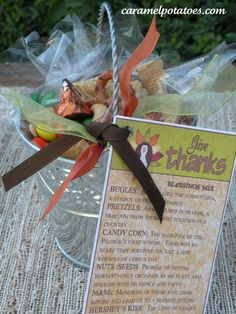 Thanksgiving Mix Recipe and Printable Tag.  Also Snack Bag Topper perfect for school parties