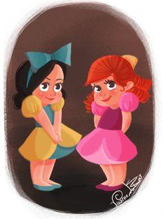 Disney Little Villain - Drizella & Anastasia by Vivianne Du Bois