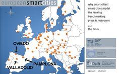 #RSE Ranking de la European Smart Cities De las 70 primeras: Pamplona (41), Valladolid (43), Oviedo (50)