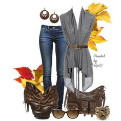 Brown and Gray, created by dlp22 on Polyvore