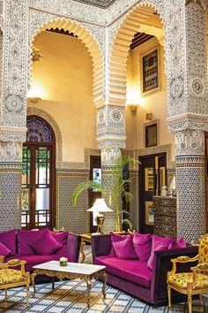 Riad Fes in Fez, Morocco Moroccan Design, Moroccan Decor, Moroccan Style, Moroccan Bedroom, Moroccan Lanterns, Islamic Architecture, Interior Architecture, Morrocan Architecture, Amazing Architecture