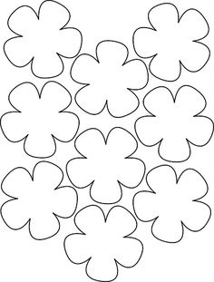 Printable Flower Templates - AZ Coloring Pages Image detail for -Hawaiian Paper Flowers Lei Hawaiian template Crafts,Actvities and Worksheets for Preschool,Toddler and Kindergarten.Lots of worksheets and coloring pages. Small Flowers, Felt Flowers, Diy Flowers, Fabric Flowers, Paper Flowers, Paper Flower Patterns, Fleurs Diy, Spring Crafts, Handmade Flowers