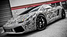 "The ""Sharpie Lamborghini"" story. Yes, this Lamborghini Gallardo was decorated with a Sharpie marker. So cool. This has the link to the story."