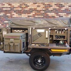 Ultimate Overland, Trailer service, customizing and rental - Maxi canvas Camping Trailer Diy, Bug Out Trailer, Off Road Camper Trailer, Trailer Plans, Trailer Build, Camper Trailers, Off Road Camping, Jeep Camping, Minivan Camping