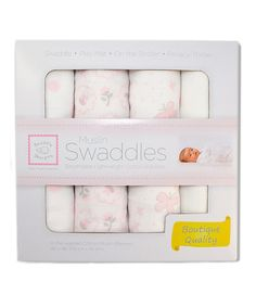Love this SwaddleDesigns Pastel Pink Butterfly & Flower Muslin Swaddling Blanket Set by SwaddleDesigns on #zulily! #zulilyfinds