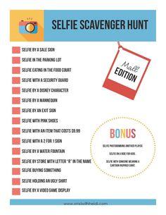 christmas selfie scavenger hunt