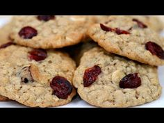WHITE CHOCOLATE CRANBERRY OATMEAL COOKIES! - #CookWithAprilVideo https://youtu.be/ZNY5sR-5VnA