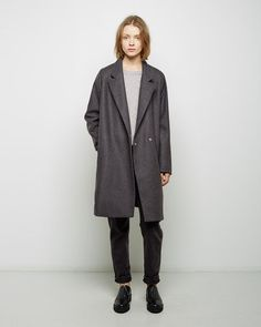 Shop Fashion on La Garconne, an online fashion retailer specializing in the elegantly understated. Wool Felt, Felted Wool, Wool Overcoat, Minimalist Fashion, How To Make, How To Wear, Normcore, Fashion Outfits, Pretty