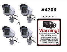 4 VAS #4206 Outdoor Dummy Camera Blinking LED W (4) #140 Decal by VAS First Response. $99.95