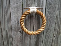 ROPE TOWEL RING handmade natural rope for by JackTarsLocker, $78.00