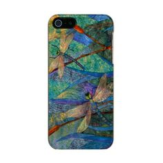 Colorful Dragonfly Incipio iPhone 5/5s Case - stunning!