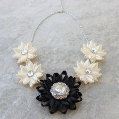 Bridesmaid Jewelry, Custom Jewelry, Bridal Statement Necklace, Bridal Jewelry, Bridesmaid Necklace, Bridal Necklace, Custom Wedding Jewelry by PetalPerceptions on Etsy