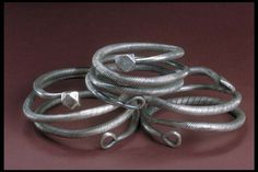 Viking age silver arm rings