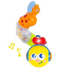 Musical Caterpillar Twist and Rattle with Lights and Sound *** To view further, visit