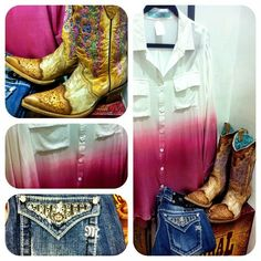 Corral Cowgirl Boots, Miss Me Jeans, and cute clothes at RiverTrailMercantile.com!