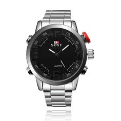 >> Click to Buy << Men's Sports Function Alloy Case Stainless Steel Brand Quartz Wrist Watch #Affiliate