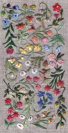 Embroidery: The French Needle  All The Pretty Flowers | ZsaZsa Bellagio - Like No Other